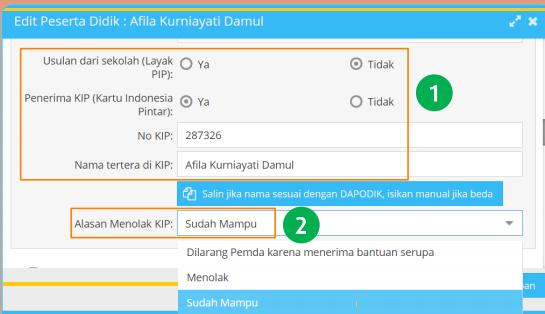 gambar cara input data KIP dapodik