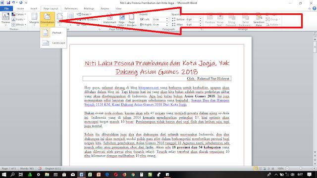 Cara Membuat Dokumen Menjadi Landscape di Ms Word