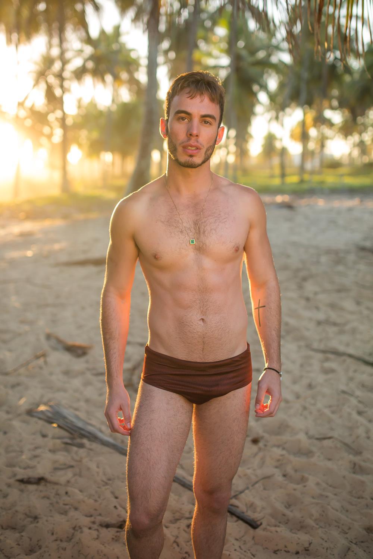 Kleber Ries Shirtless Hits the Pernambuco Beach