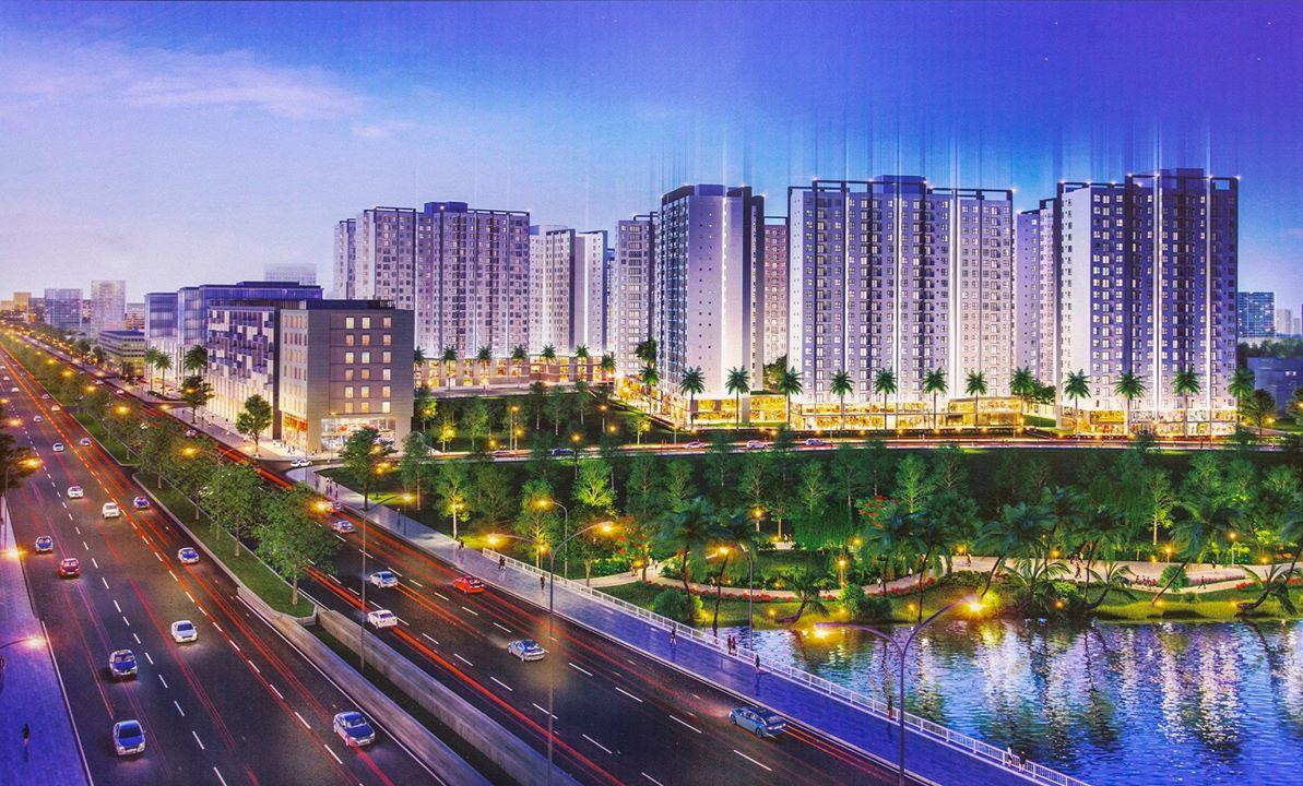 Phối cảnh Khu đô thị ánh sáng Akari City - Võ Văn Kiệt