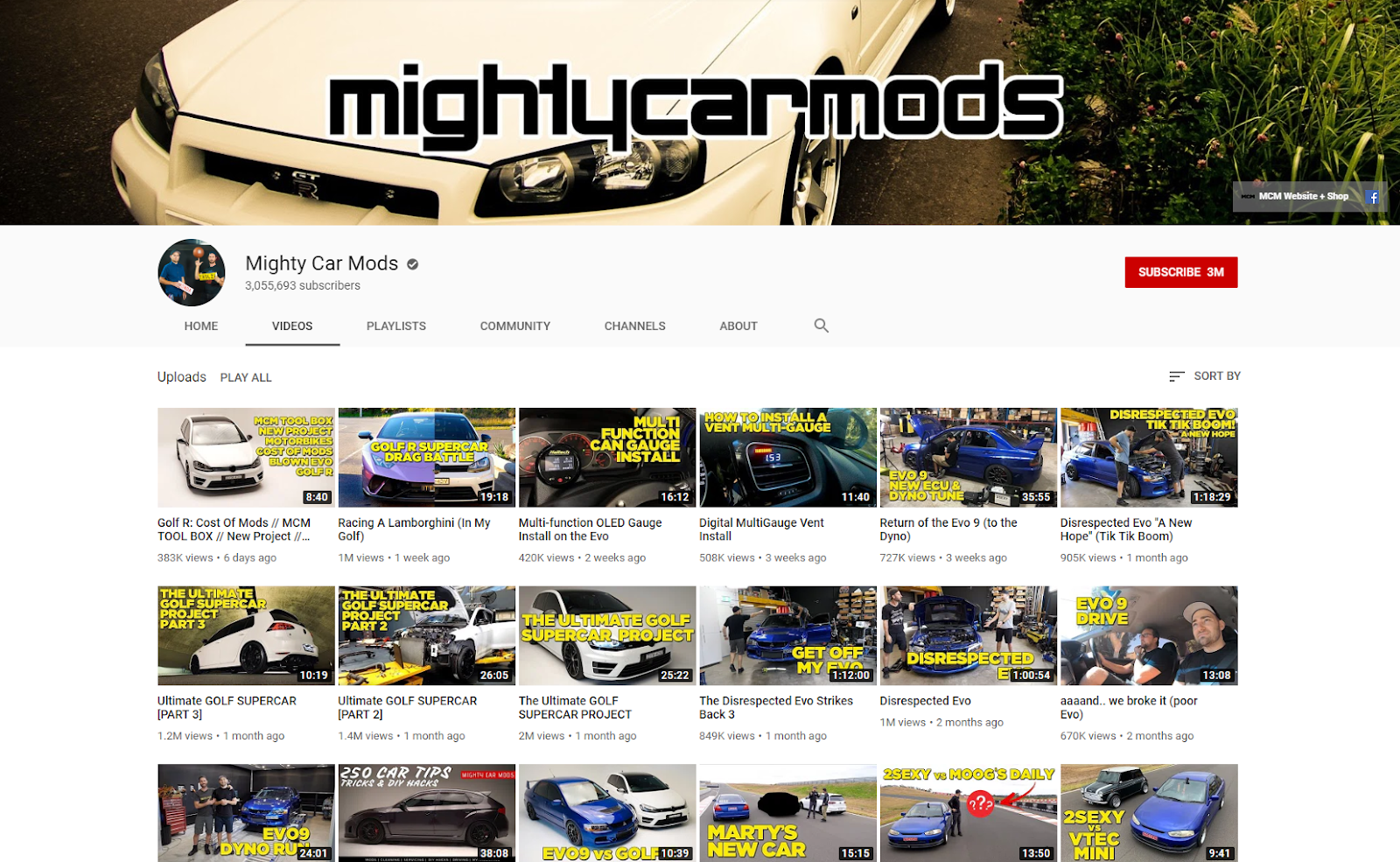 Mighty Car Mods YouTube mightycarmods .com