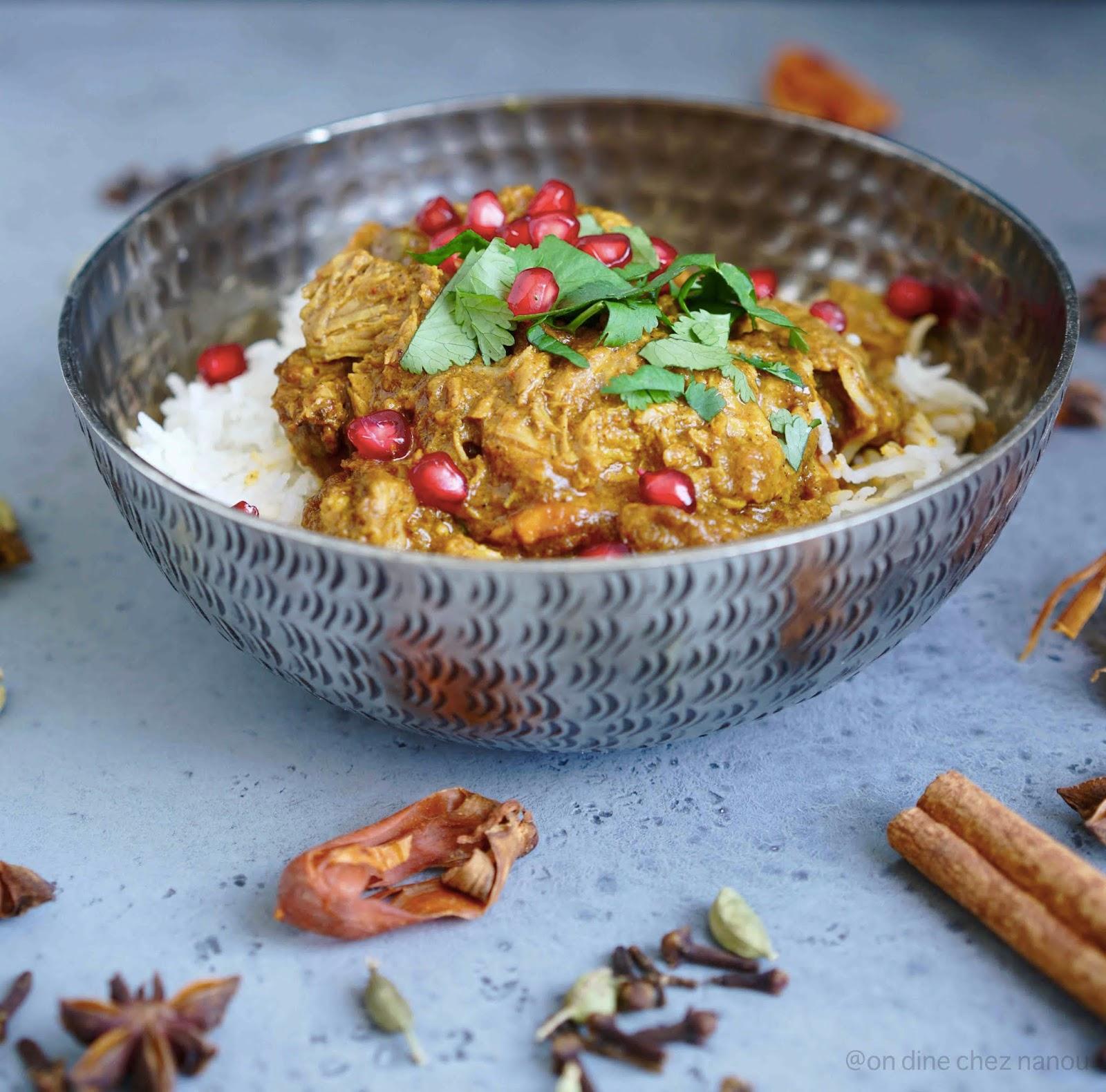 recette indienne , cannelle , cardamome , plat savoureux , parfumé , coloré