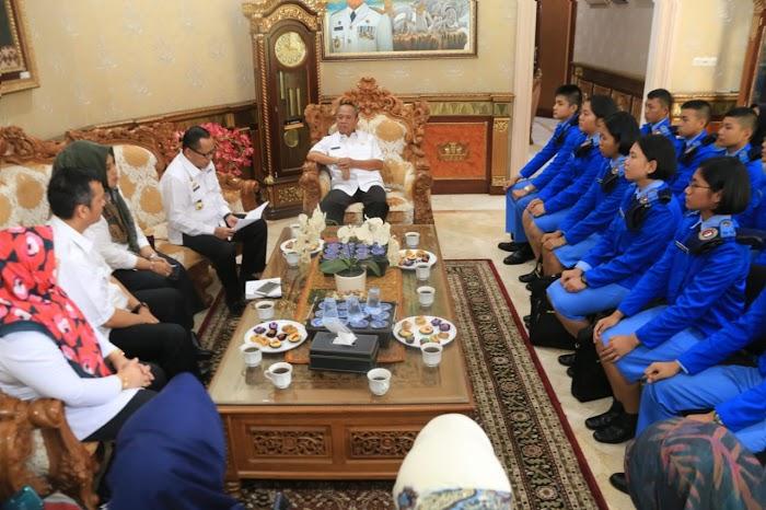 Wagub Bachtiar Basri Terima Audiensi Siswa SMA Taruna Nusantara