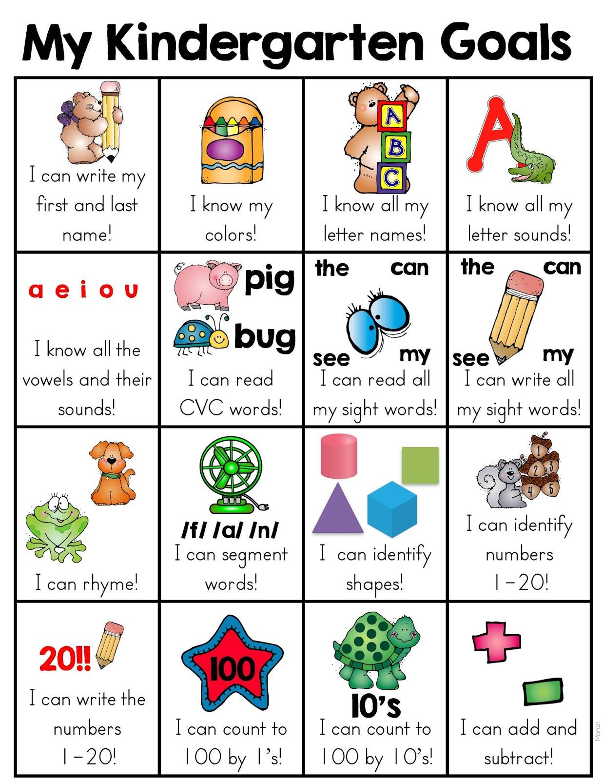 Colors And Kindergarten Kindergarten Goals