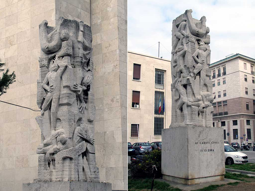 Monument to civilian victims of war, by Dino Bovecchi, via Fiume, Livorno