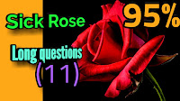 Probable Long question and answers from the sick rose poem