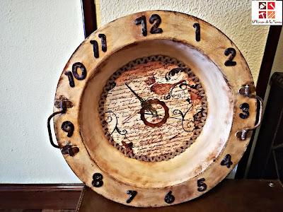 reciclar un brasero en reloj