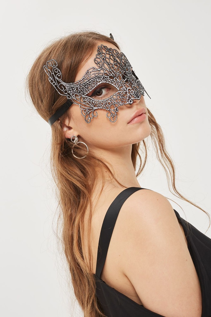 Topshop Filigree Silver Mask