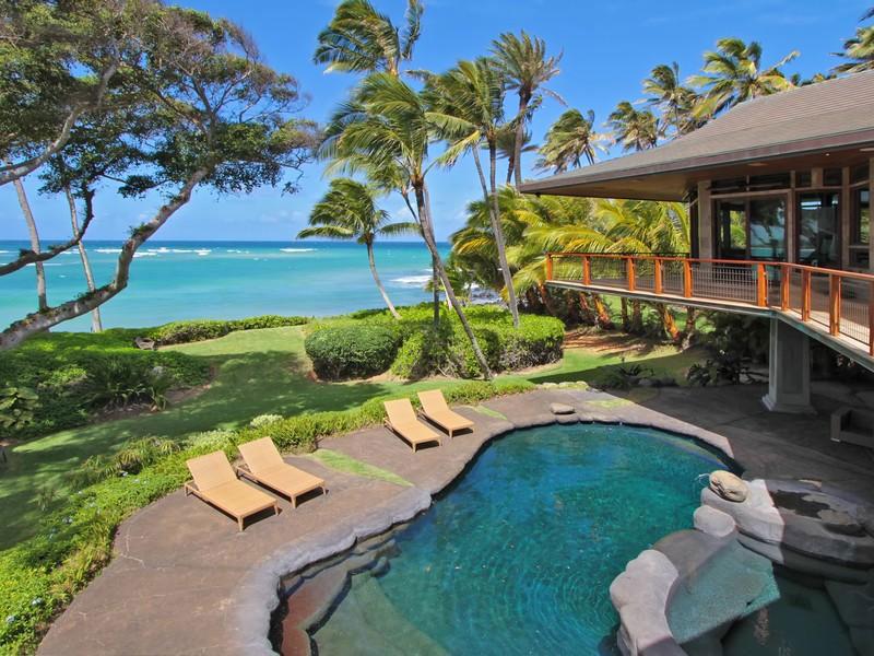 hogares frescos: magnifica casa frente al mar en paia, hawaii.