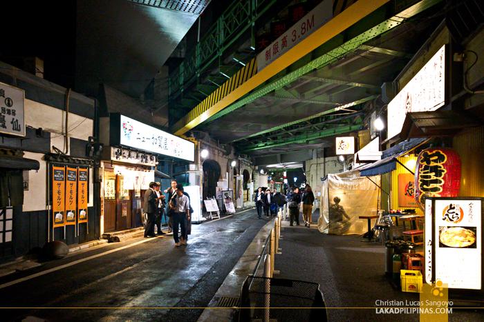 Tokyo Shinbashi Railway Restaurants Evening
