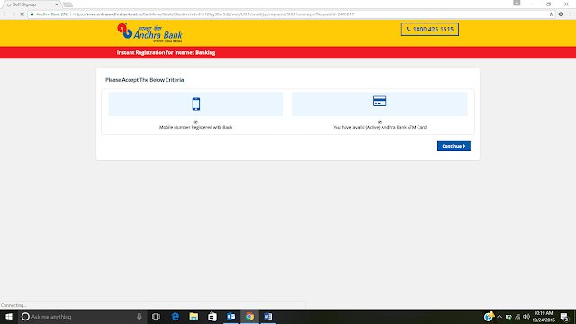 Andhra Bank Internet Banking Login Online