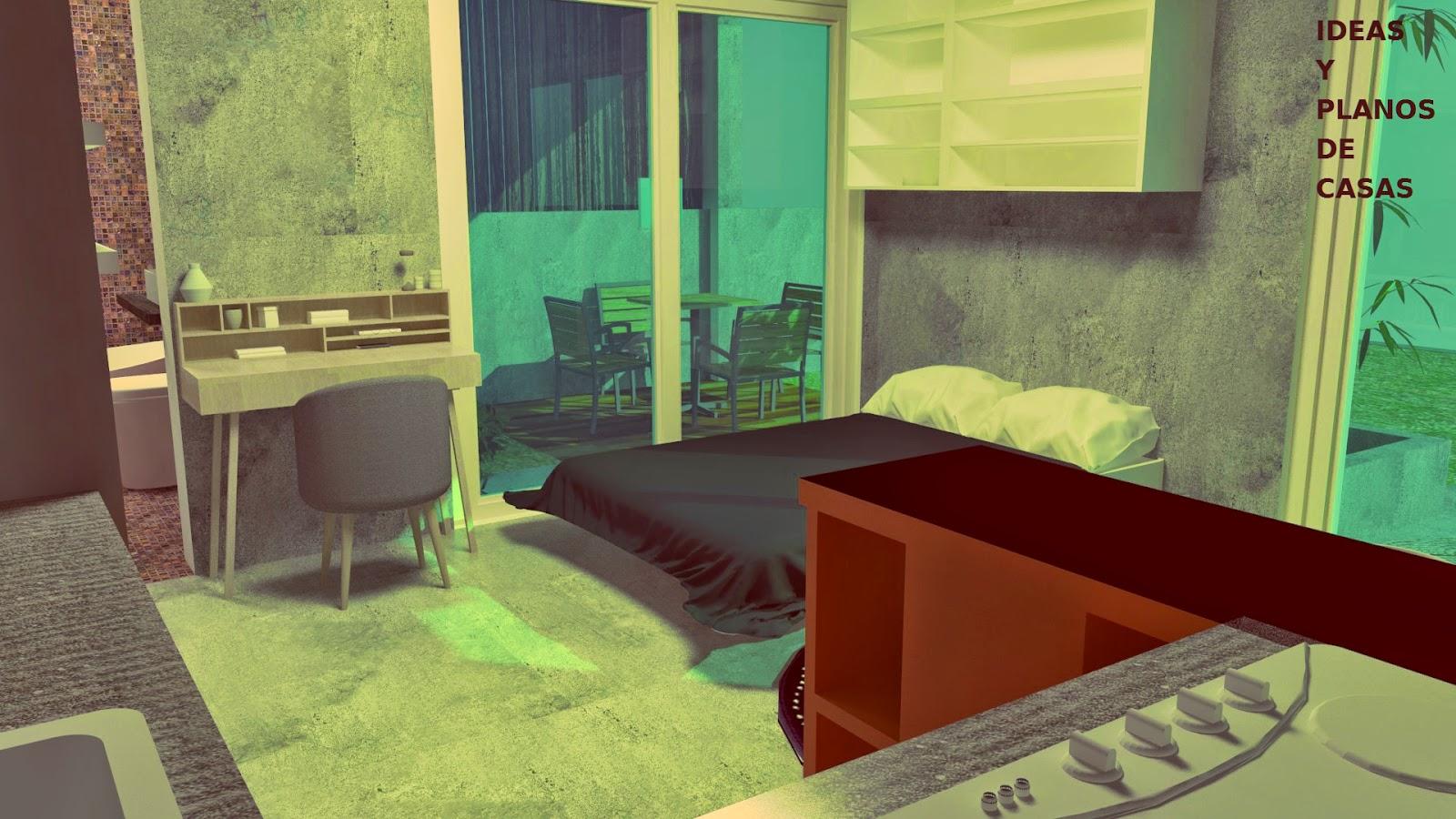 Un mini apartamento con todo lo que necesitas para vivir for Loft de 40 metros cuadrados