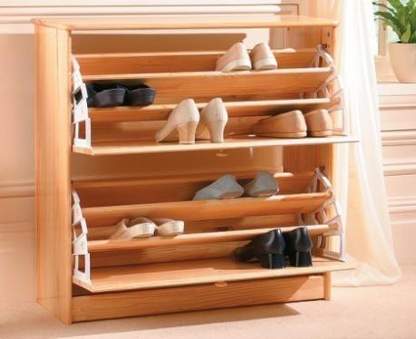 Furniture Rak Sepatu Kayu Model Terbaru