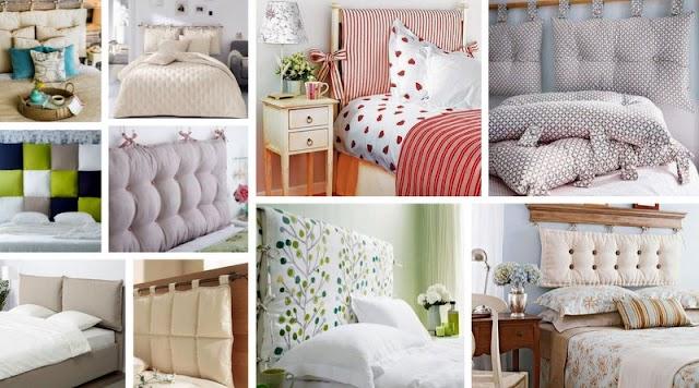Φτιάξτε μόνοι σας Κεφαλάρια κρεβατιού από μαξιλάρια