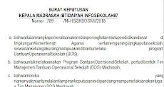 Contoh SK Bendahara Bos Madrasah 2019