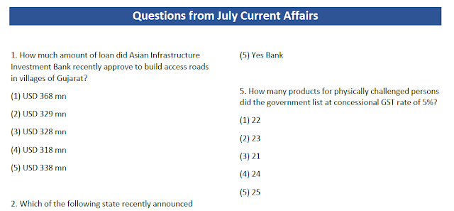 Top 70+ Current Affair Question and Answers PDF – July 2017 Download