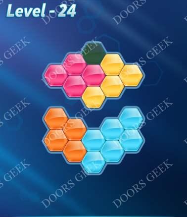 Block! Hexa Puzzle [Intermediate] Level 24 Solution, Cheats, Walkthrough for android, iphone, ipad, ipod