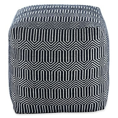 And This Graphic Elizabeth Square Pouf: