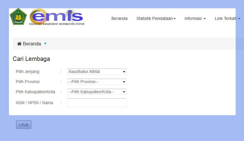 Cara Cek NSM (Nomor Statistik Madrasah) RA MI MTs MA Lengkap ...