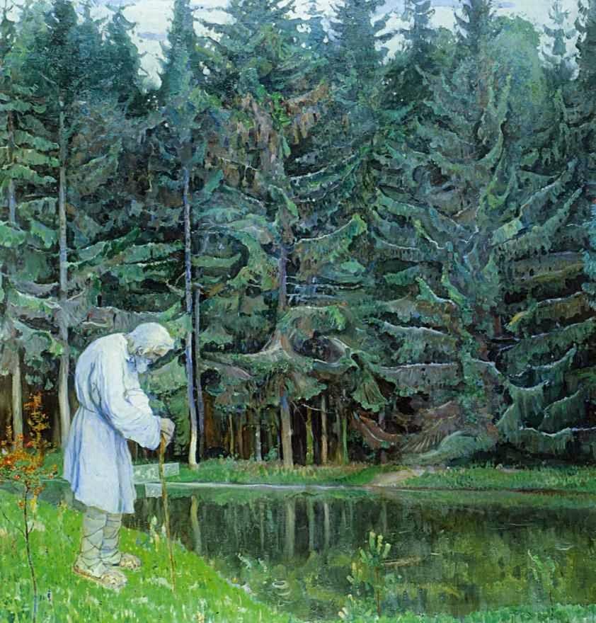 Elder, Servo do Deus de Abraão - Pinturas de Mikhail Nesterov - (Simbolismo) Russo