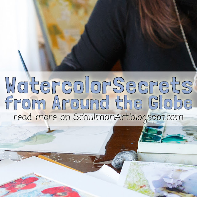 watercolor techniques | how to paint in watercolor http://schulmanart.blogspot.com/2015/12/watercolor-secrets-from-around-globe.html
