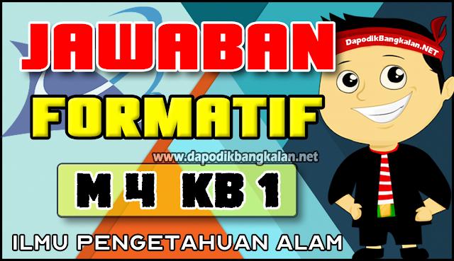 Jawaban Test Formatif M4 KB 1 IPA
