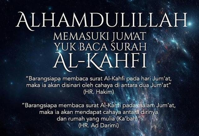 Keutamaan Membaca Surah Al Kahfi di Hari Jum'at