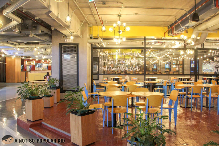 Garden-like interior design of The Garage Food Park