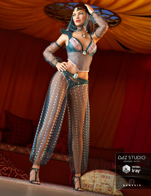 Wish Granter Outfit for Genesis 3 Female