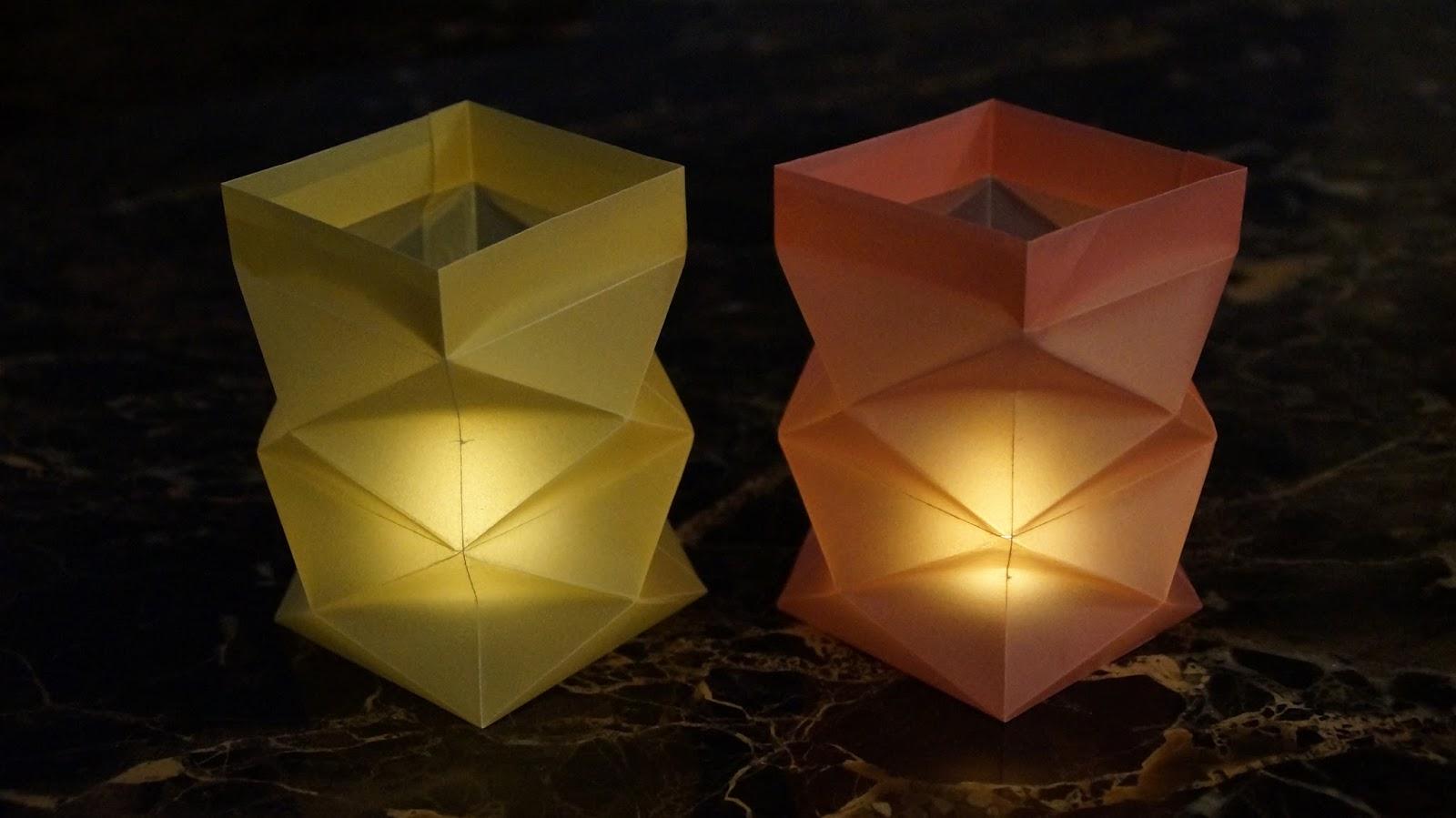 Basteln Zu Weihnachten: Windlichter Aus Papier Falten   DIY
