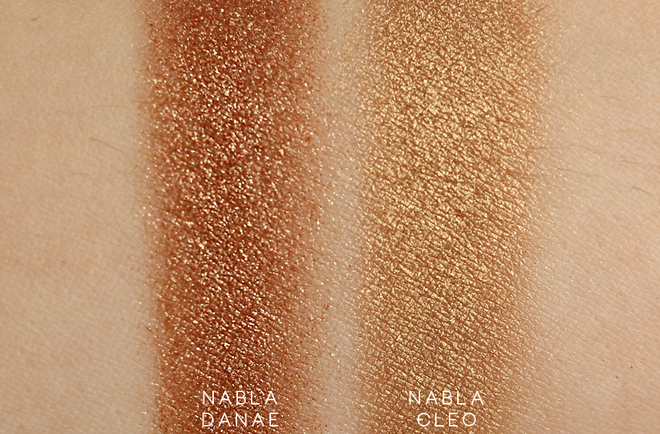 Nabla Goldust Danae swatch