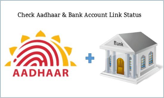 Check Aadhaar & Bank Account Link Status