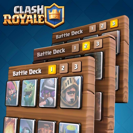 clash royale decks with log