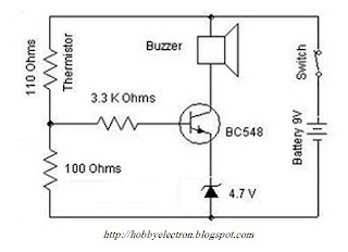 heat sensor circuit wiring schema blogs 1996 Cavalier Ignition Wiring Diagram becomes 90 ohms after heating the 110 ohms thermistor then the voltage across one resistor of the voltage divider circuit equals the ratio of