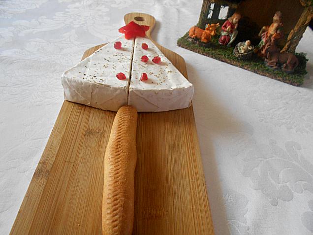 entrada de queijo brie