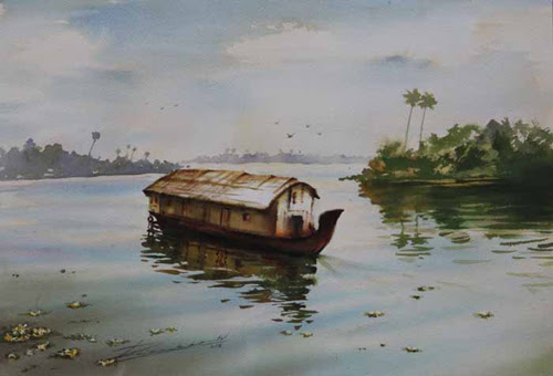 "25th April – 7th May 2016:  Pradarshak presents ""Back Waters"" Solo Exhibition of Paintings by Deepak Patil"