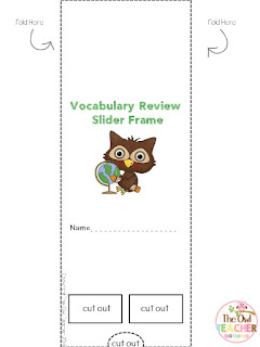 Help your students review independently their vocabulary or other content with these sliders!  They are perfect for seatwork or center activities!