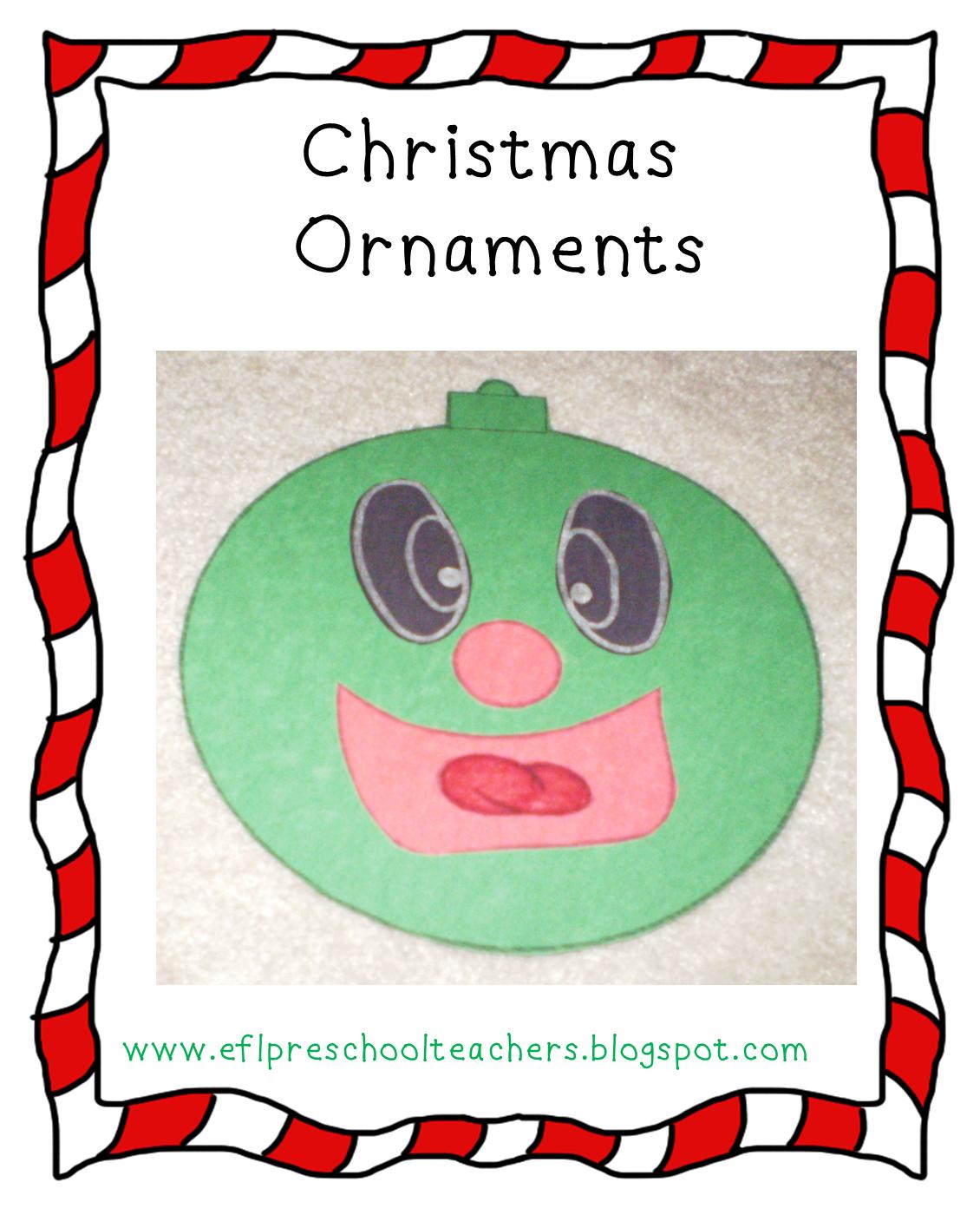Esl Efl Preschool Teachers Christmas