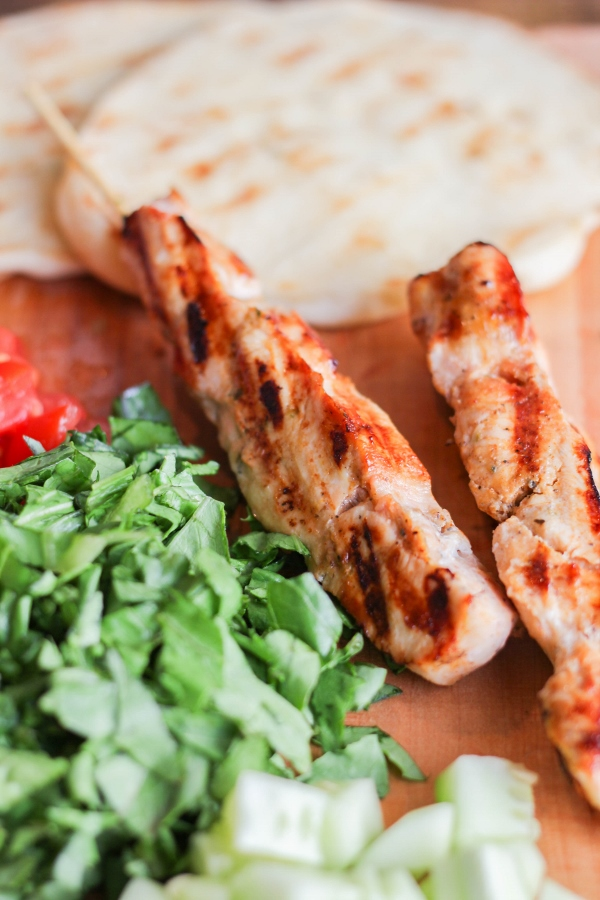 Chicken Shawarma Mini Flatbreads | The Chef Next Door