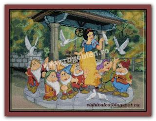 "Скачать схему вышивки Rogoblen 2.75 ""Snow White and the Seven Dwarfs"""
