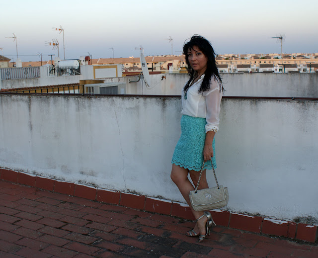 look+con+falda+color+mint