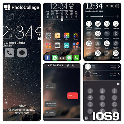 Download Theme IOS9 For Asus Zenfone 2 550ML Terbaru