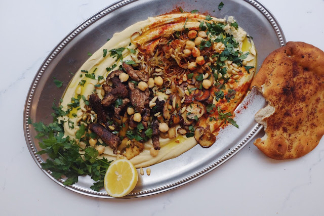 Loaded Hummus with Quick Shwarma - The FeedFeed Snapchat Takeover