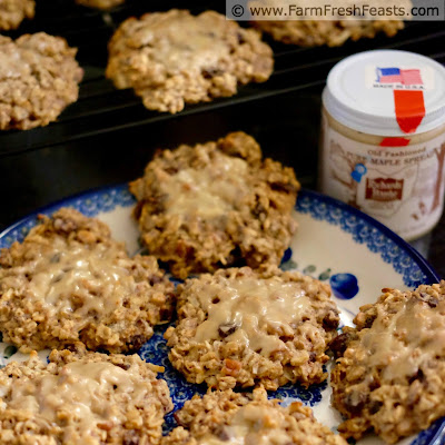 an image of a plate of healthy gluten and refined sugar free breakfast cookies