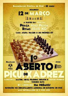 Vem aí o 1º aberto de xadrez de Picuí