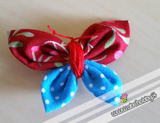 farfalla di stoffa