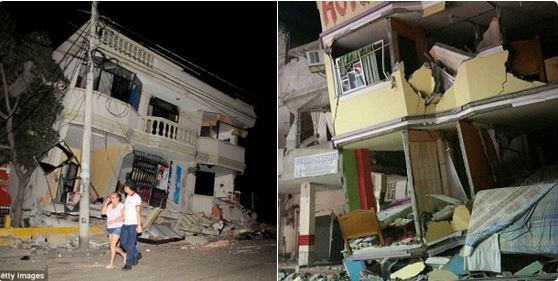 At least 28 people killed after powerful earthquake hit Ecuador.