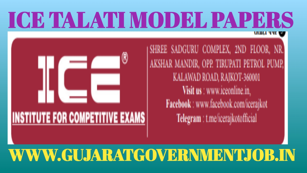 ICE Daily model papers|Talati model papers 2019