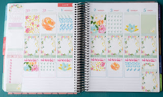 Plan With Me: Swept Away ~ Genuinely Erin | Plan the week with me using my new weekly Erin Condren Life Planner weekly kit, Swept Away! You can find it on my Etsy shop, Genuinely Erin Designs!