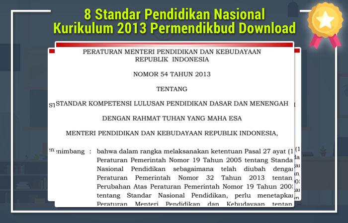 8 Standar Pendidikan Kurikulum 2013